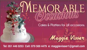 Memorable Occasions, Bloemfontein